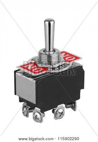 Toggle switch isolated on white background
