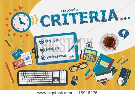 Criteria Regulation Generality Business Marketing Design Concept. Typographic Poster.