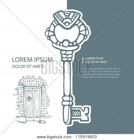 Ancient Metal Key
