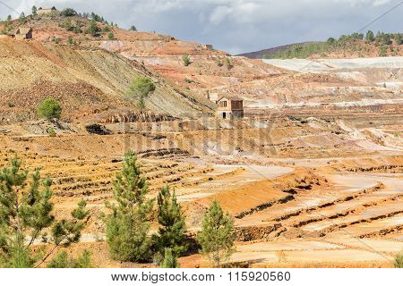 Open pit copper mine in Rio Tinto, Spain