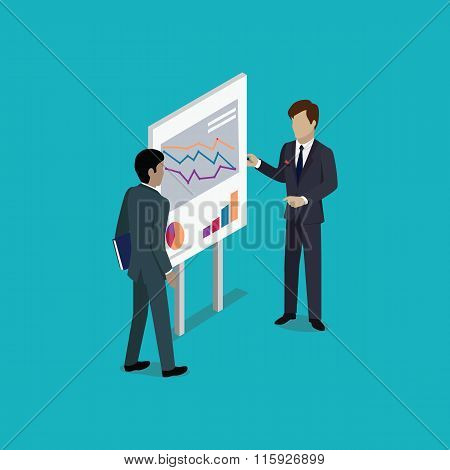 Business Report Isometric