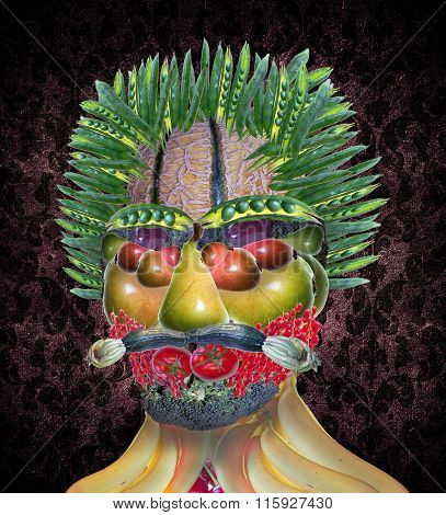 Vegetable Man Portrait Arcimboldo Style