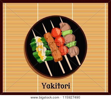 Asian Yakitoris Skewers Set