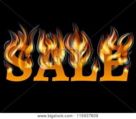 Sale Design with Fire