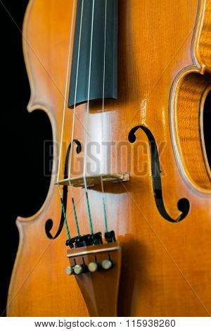 Closeup of a violin