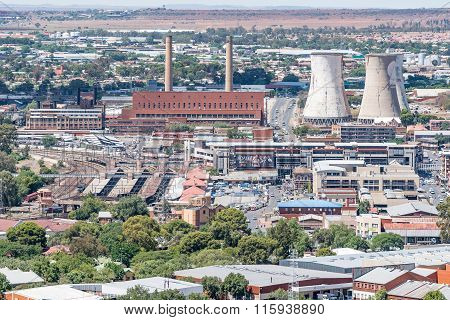Power Station, Train Station And Taxi Rank In Bloemfontein