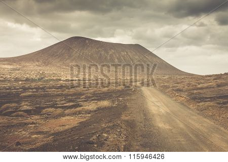 Volcano At La Graciosa, Canary Islands, Spain.