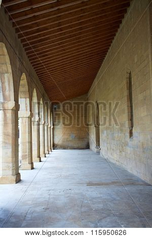 Obanos church in Saint James Way at Navarra Spain San Juan Bautista