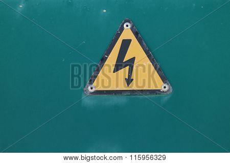 Electricity Bolt Warning Sign