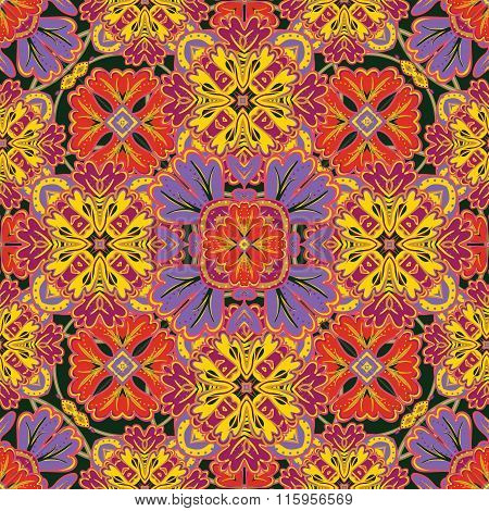 Seamless Pattern From Colorful Moroccan Tiles, Ornaments. Can Be Used For Wallpaper, Pattern Fills