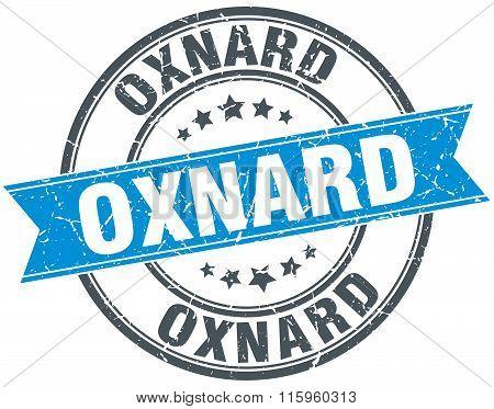 Oxnard blue round grunge vintage ribbon stamp