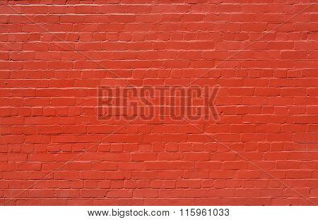 Brick Wall Background Painted Burnt Orange