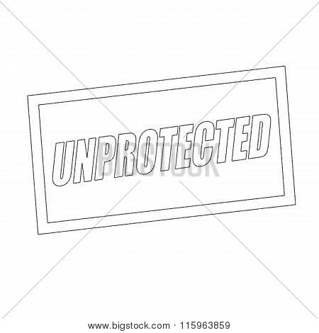 Unprotected Monochrome Stamp Text On White
