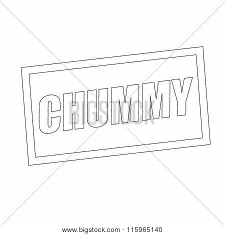 Chummy Monochrome Stamp Text On White
