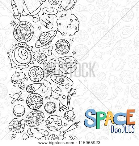 Space Objects Doodles