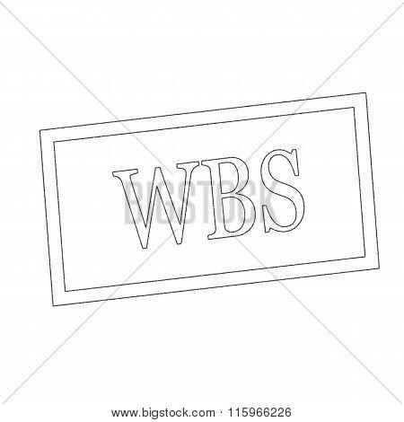 Wbs Monochrome Stamp Text On White