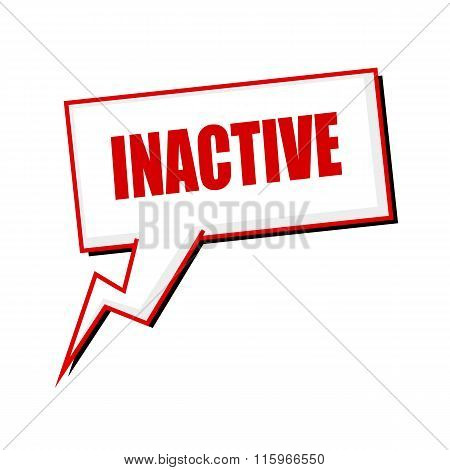 Inactive Red Stamp Text On White Speech Bubbles