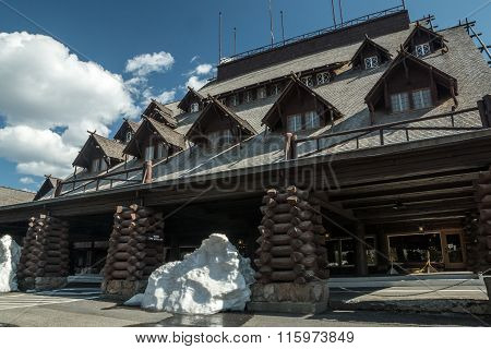 Snow At Old Faithful Inn