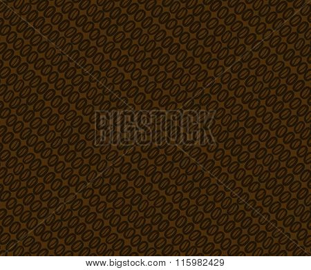 Coffee beans pattern. There is the seamless tile in swatch panel.