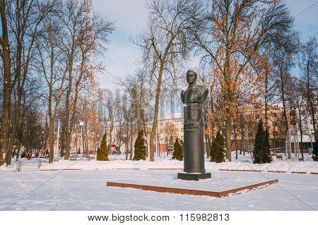 Monument of Gromyko in Gomel, Belarus.