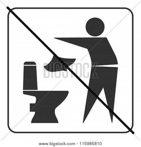 Do not litter in toilet icon