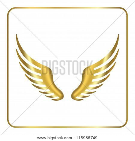 Wing golden icon