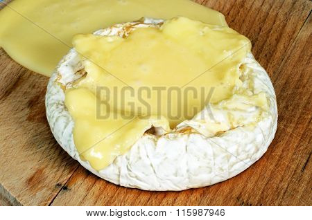 Baked Camembert cheese.
