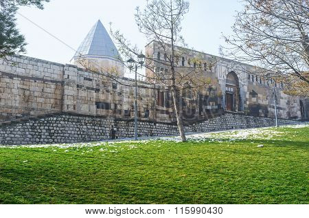 The Alaeddin citadel contains the sarcophagi of eight of the Seljuq sultans of Rum Konya Turkey. poster