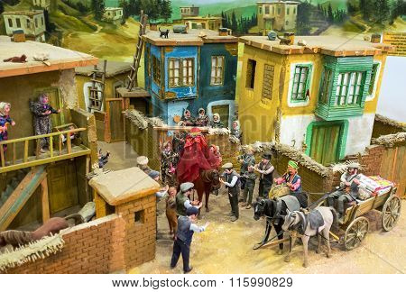 The Diorama Of The Turkish Vedding In Village