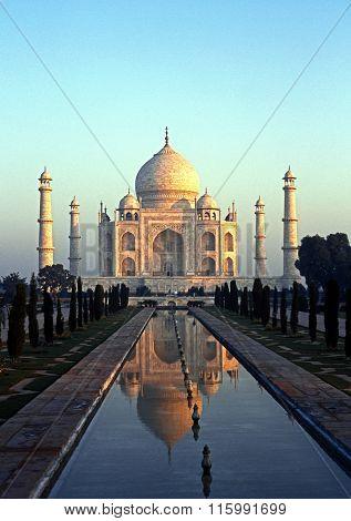 The Taj Mahal, India.