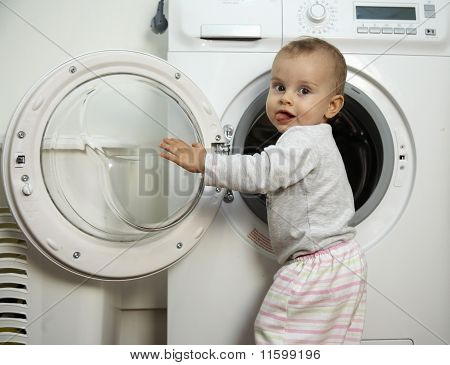 Checking The Washing Machine