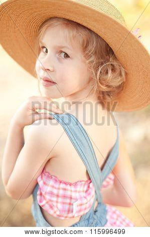 Stylish kid girl