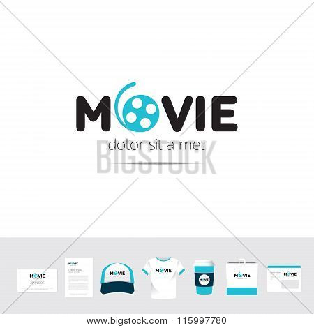 Movie Business Company Logo Template