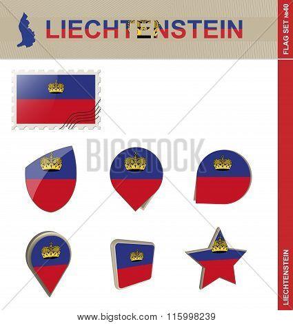 Liechtenstein Flag Set, Flag Set #40