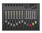 panel console sound mixer vector illustration isolated on white background poster