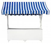 Market stall with awning poster