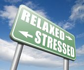 relaxed stressed therapy to take it easy relax and be stress free assessment and management poster