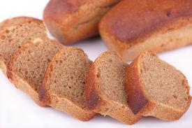 Fresh baked homemade rye bread