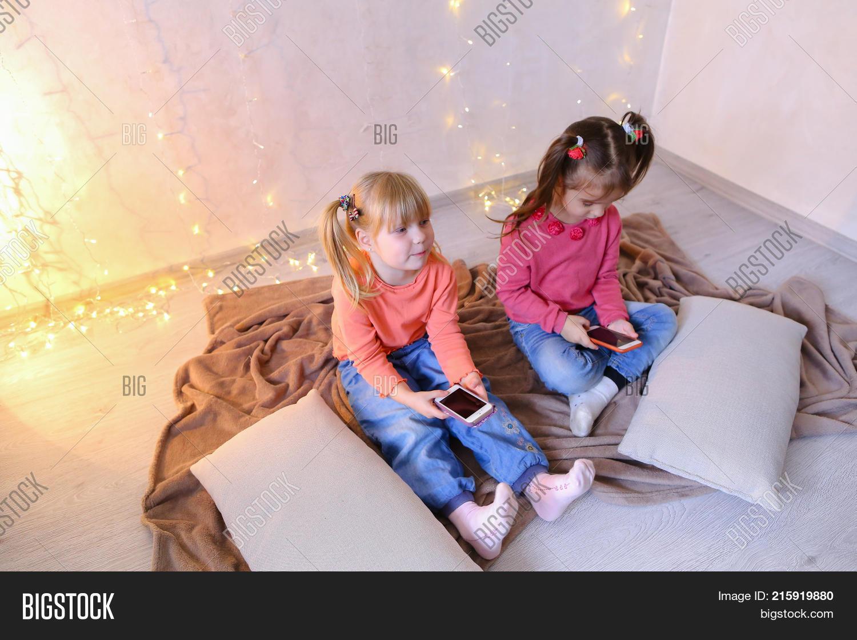Lovely Little Girls Image & Photo (Free Trial)   Bigstock