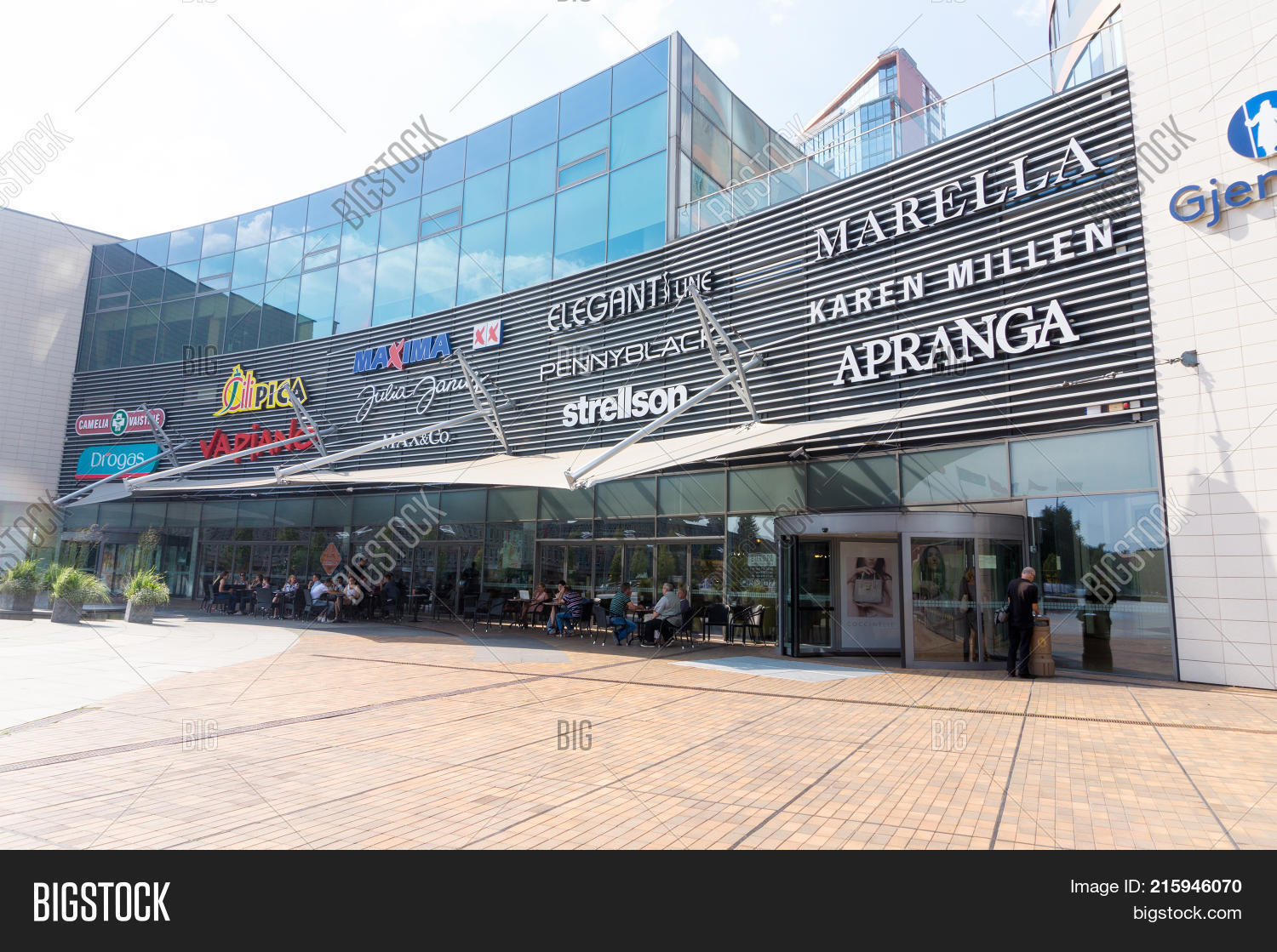 ecf6184dc VILNIUS LITHUANIA - AUGUST 29 2016: The front door of Europa shopping mall  in Vilnius