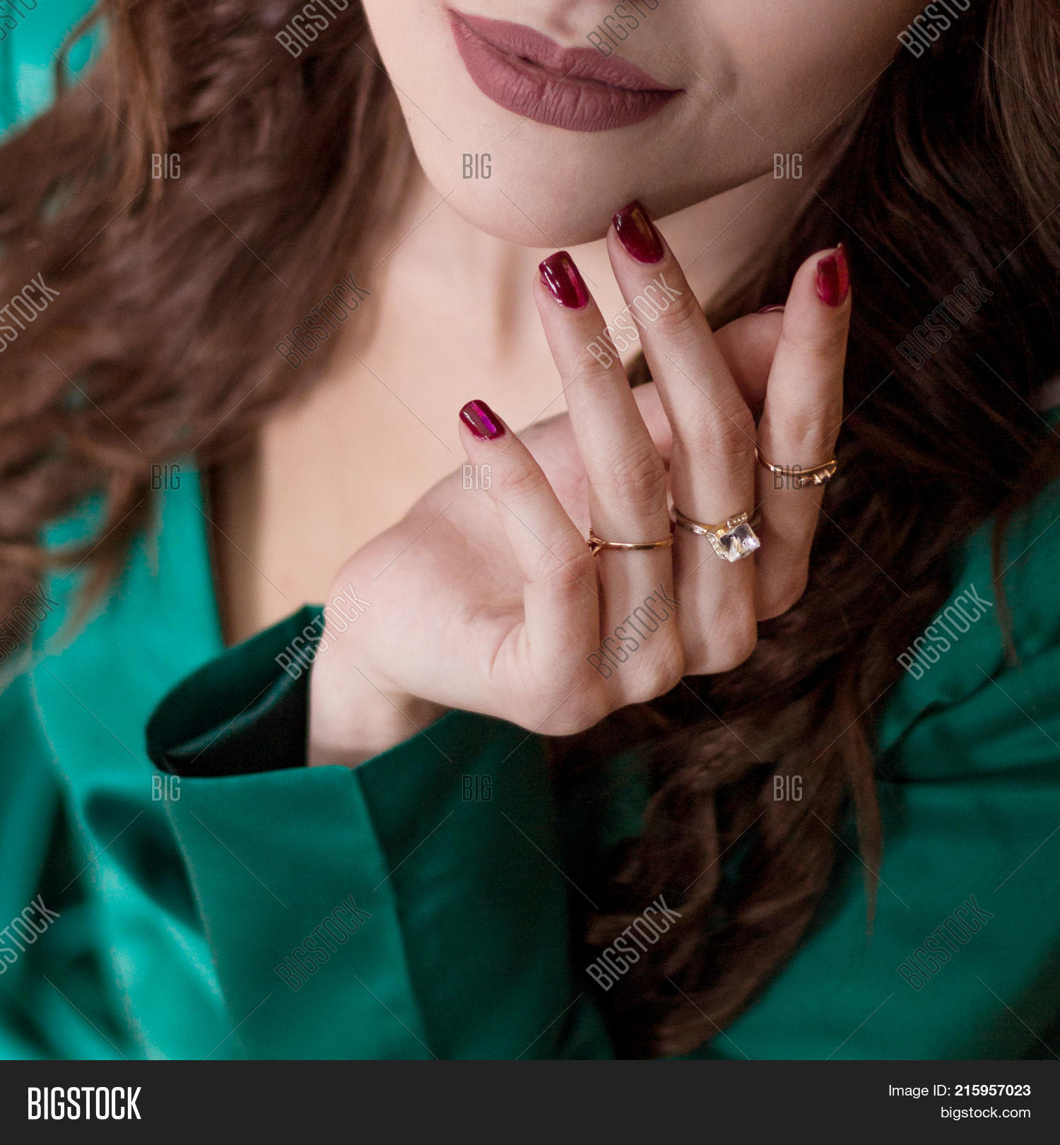 Woman\'s Hand Red Nails Image & Photo (Free Trial)   Bigstock