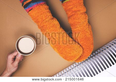 Men care about the woman the heat in the coffee batteries and socks. Sarcasm