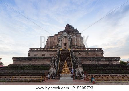Chedi Luang temple in Chiang Mai : Most popular Chiang Mai Thailand