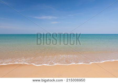 Wave and blue sky at Andaman seathailand