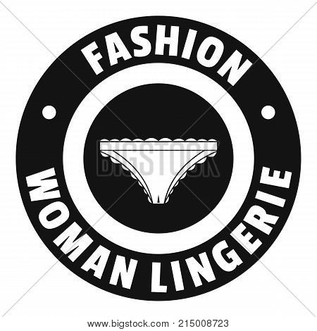Underpant woman logo. Simple illustration of underpant woman vector logo for web