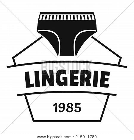 Lingerie beautiful logo. Simple illustration of lingerie beautiful vector logo for web