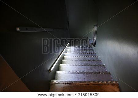 Steep Flight Of Steps In A Dark Interior