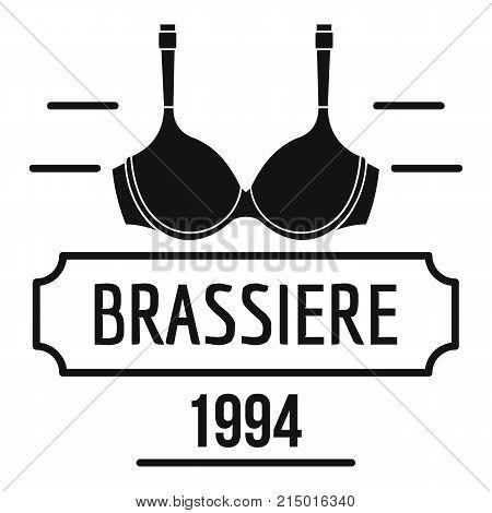 Brassiere logo. Simple illustration of brassiere vector logo for web