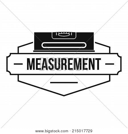 Measurement level logo. Simple illustration of measurement level vector logo for web