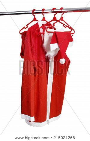 Santa Clause Costume on a White Background
